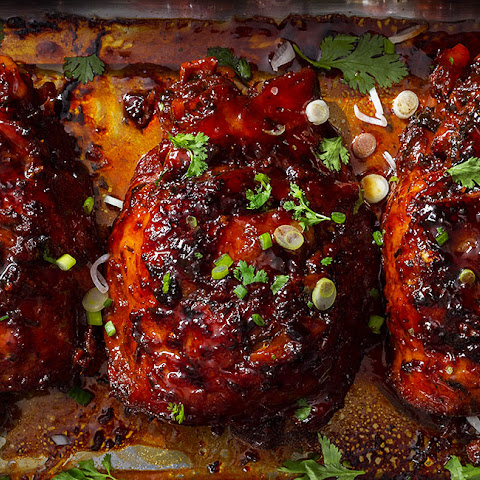 Honey Glazed Slow Cooker Turkey Thighs