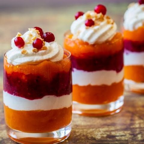 Festive Pumpkin Cranberry Jello Shots