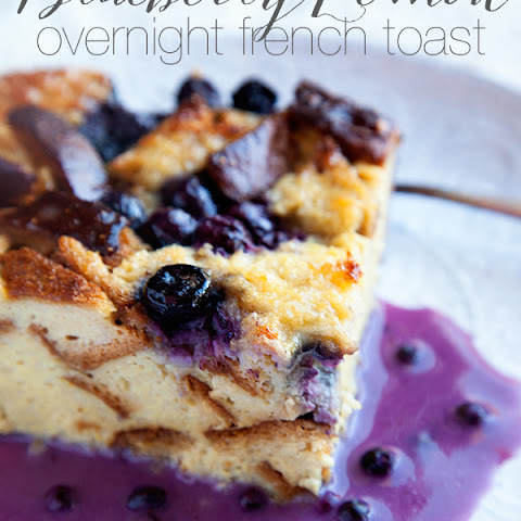 Blueberry Lemon Overnight French Toast Gluten and Dairy Free