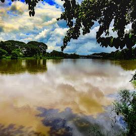 Sky Lake by Fernanda Paixão - Landscapes Travel ( clouds, mirror, sky, cloudy, lake, river )