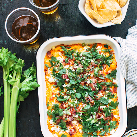 Bacon and Scallion Buffalo Chicken Dip