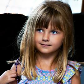 Piercing Eyes by Luanne Bullard Everden - Babies & Children Children Candids ( girls, blue, grandchildren, children, eyes )