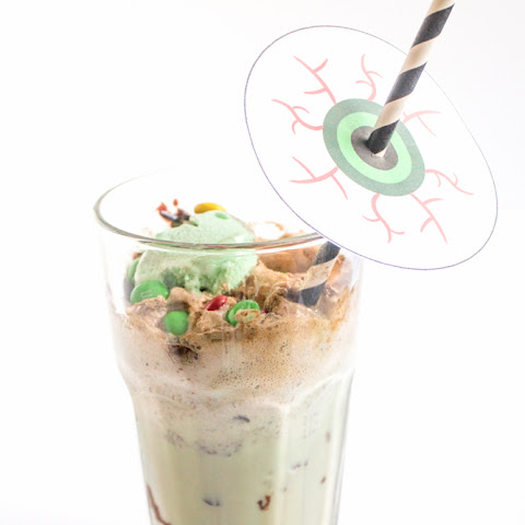 """Fearfully Minty"" Ice Cream Float"