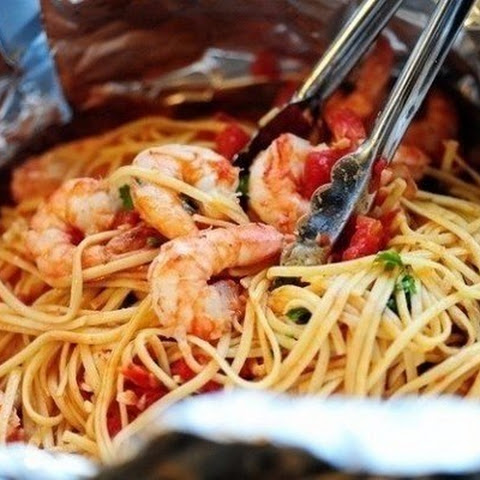 Pasta With Salmon And Shrimps