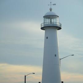 Biloxi Lighthouse by David Jarrard - Buildings & Architecture Statues & Monuments ( biloxi, seashore, beautiful scenery, lighthouse )