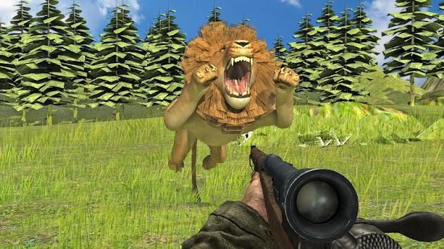 Extreme wild lion hunting 3D apk screenshot