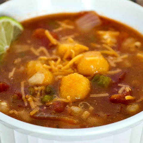 Mexican Tomato Soup with Corn Dumplings