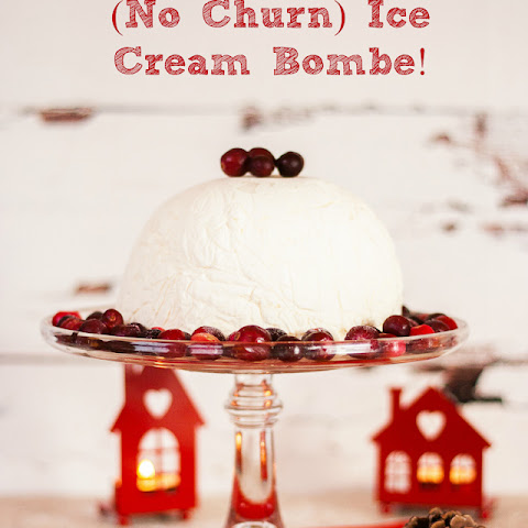 Christmas Pudding (No Churn) Ice Cream Bombe
