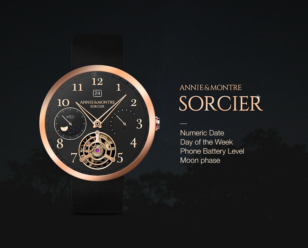 Sorcier watchface by Annie&Mon Screenshot 0