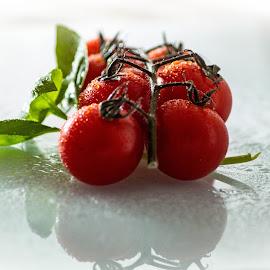 Cherry tomatos by Vaska Grudeva - Food & Drink Fruits & Vegetables