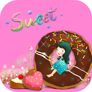 Pink Sweet Donuts Girl