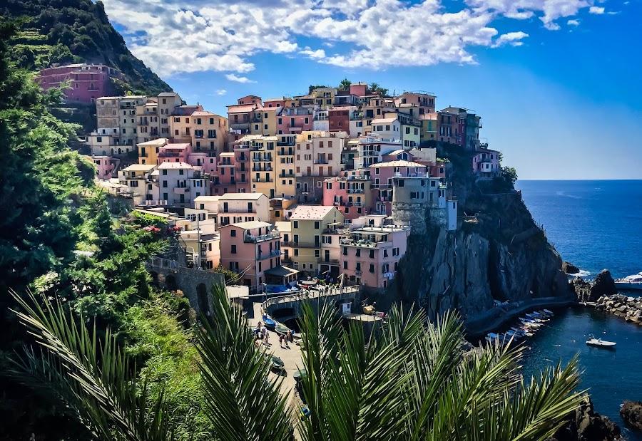 Cinque Terre by Mike Hotovy - City,  Street & Park  Vistas