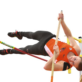 Up and Over by Justin Quinn - Sports & Fitness Other Sports ( track and field, athletics, jumping, sports, track, pole vault )