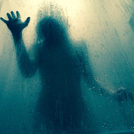 Trapped   by Erin Murphy - Instagram & Mobile iPhone ( demention of horror, creepy, doomed, blue )