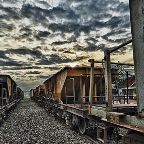 Stasiun Lahat by Cuandi Kuo - Transportation Trains