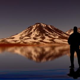 Rendido a tus pies by Alberto Nadgar R. - Digital Art Places ( inmensidad, volcan, laguna, hielo )