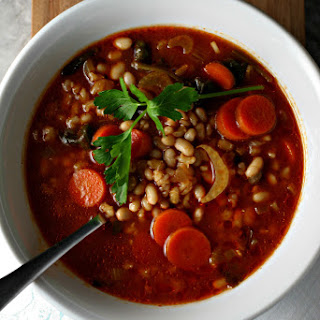Italian Barley And White Bean Soup