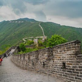The Great Wall by David Loarid - Landscapes Mountains & Hills