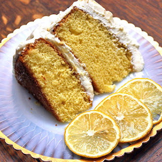 Lemon Cake With Whipped Frosting
