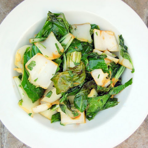 Gingered Kale and Bok Choy