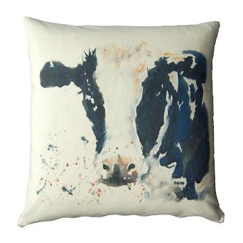 Cow cushion rustic shabby chic decor
