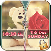 Teddy Bear Zipper Screen Lock APK for Nokia