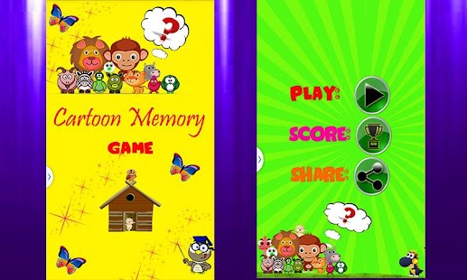 Cartoon Memory Game - screenshot