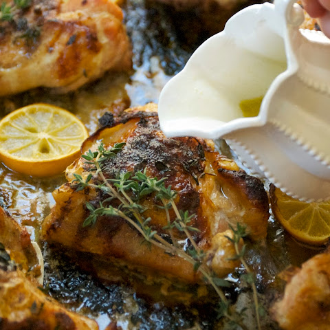 Meyer Lemon and Thyme Roasted Chicken