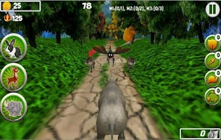Screenshot of Animal Transformer Run 3D