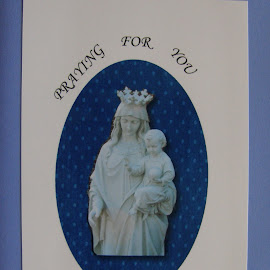 Get Well Card #1 by Rita Goebert - Typography Words ( grandma rita originals; praying for you greeting card; holy message; )