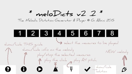 meloDicts -melodic dictations - screenshot