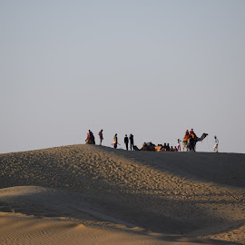 SAM SAND DUNES, JAISALMER, RAJASTHAN,INDIA by Sukamal Biswas - Landscapes Sunsets & Sunrises