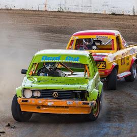 PEOTR 1 by Tommy Glad - Sports & Fitness Motorsports ( dirt racing, port elizabeth oval track raceway, peotr, dirt, datsun 1400, volkswagen )