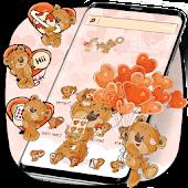 Cute Brown Bear Theme Kawaii Bear icons APK for iPhone
