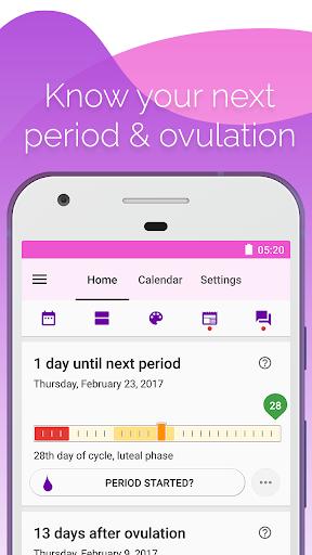Period and Ovulation Tracker screenshot 1