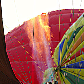 Hot Air  by A.j. Amos - Transportation Other ( colors, beautiful, hot, balloon, fire )