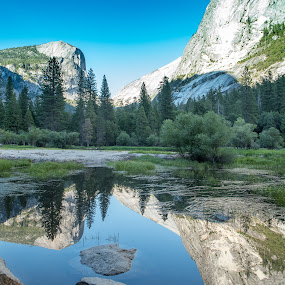 Mirror Lake by Mehul V - Landscapes Mountains & Hills ( national park, yosemite, natu, lake, water,  )