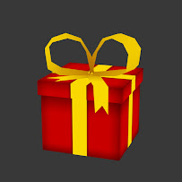 Gift present with ribbon