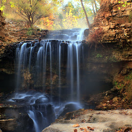 FALL by Dana Johnson - Landscapes Waterscapes ( waterscape, autumn, cascade, falls, fall, waterfall, landscape )