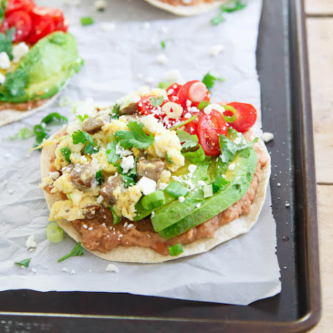 Chicken Sausage Breakfast Tostadas