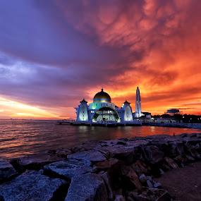Masjid Selat, Melaka by Lolit Whorlow - Landscapes Sunsets & Sunrises
