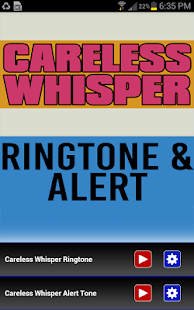 Careless Whisper Ringtone - screenshot