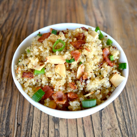 Soaked Quinoa with Bacon, Almonds, & Herbs