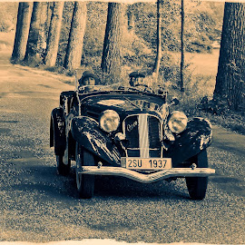 old style by Tomasz Marciniak - Transportation Automobiles ( car, old car, b&w, aero, road )