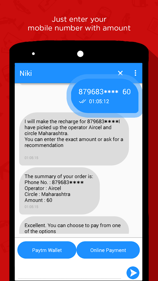 Niki: Recharge,Bills,Cabs,Food Screenshot 1