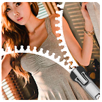 Korean Girl Zip Locker - zipper lockscreen theme Icon