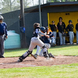 Watkins Middle School by Josh-Bojo Bojanowski - Sports & Fitness Baseball ( baseball, photographers, taking a photo, photographing, photographers taking a photo, snapping a shot )