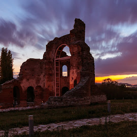 Red church, Bulgaria by DC Photos - Novices Only Landscapes ( plovdiv, perushtica, byzantine, sunset, red church, skyporn, long exposure, roman, basilica, bulgaria )