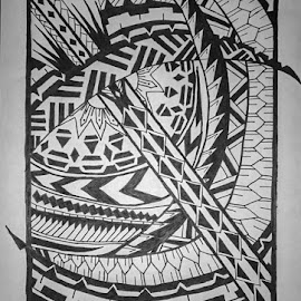 Irregular Doodle by Nvar Kawan - Drawing All Drawing ( draw, amazing, doodle, black and white, beautiful, illustration, talent, drawing, kurd )