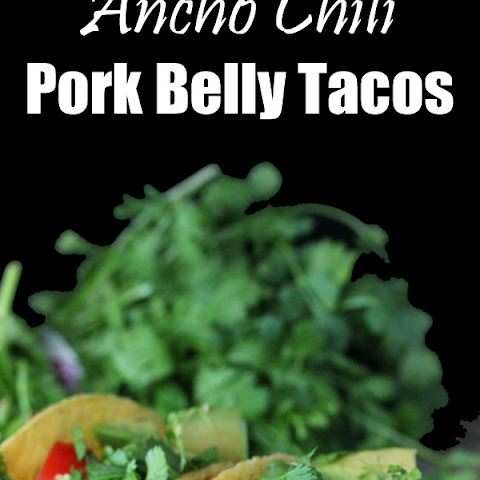 Ancho Chili Crispy Pork Belly Tacos